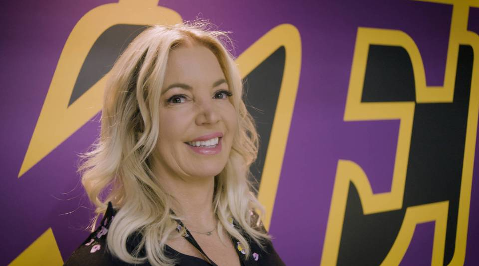 Los Angeles Lakers CEO and co-owner Jeanie Buss at the UCLA Health Training Center, the Lakers practice facility in El Segundo, California
