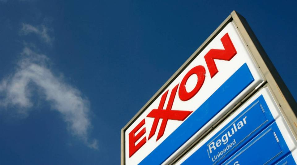 An Exxon gas station in Burbank, California.