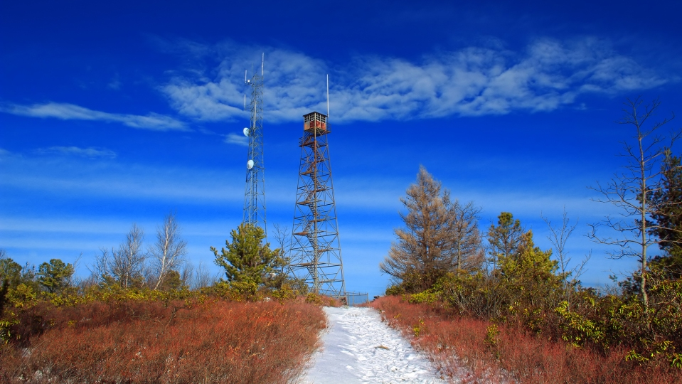 A fire lookout tower in Pennsylvania.