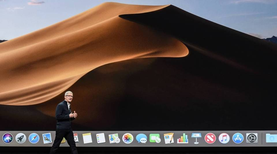 Tim Cook, CEO of Apple, unveils new products during an Apple launch event at the Brooklyn Academy of Music in New York on Oct. 30. The new products cost about 20 percent more than the previous generation.