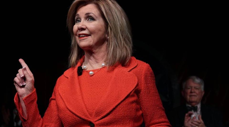Tennessee Republican Marsha Blackburn, who won a Senate seat in Tuesday's election, has ties to the telecom industry.