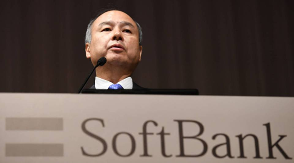 Softbank group CEO Masayoshi Son delivers a speech during his company's financial results press conference at a hotel in Tokyo on Nov. 5, 2018.