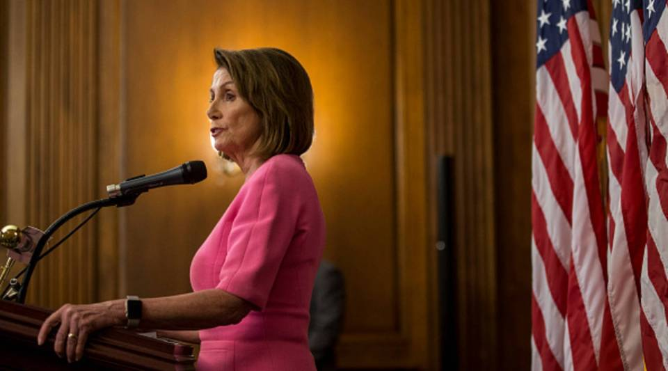 House Minority Leader Nancy Pelosi holds a news conference following the 2018 midterm elections at the Capitol Building on Nov. 7, 2018 in Washington, DC.