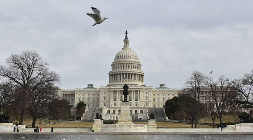 The U.S. Capitol is seen in Washington, DC on Jan. 22, 2018 after the U.S. Senate reached a deal to reopen the federal government, with Democrats accepting a compromise spending bill.
