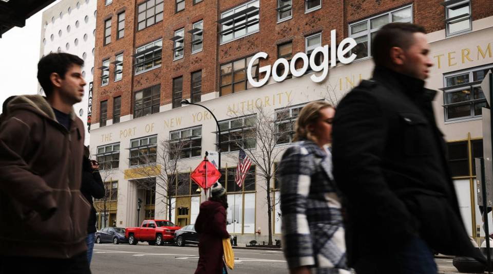 Google's New York office in lower Manhattan on March 5, 2018 in New York City.