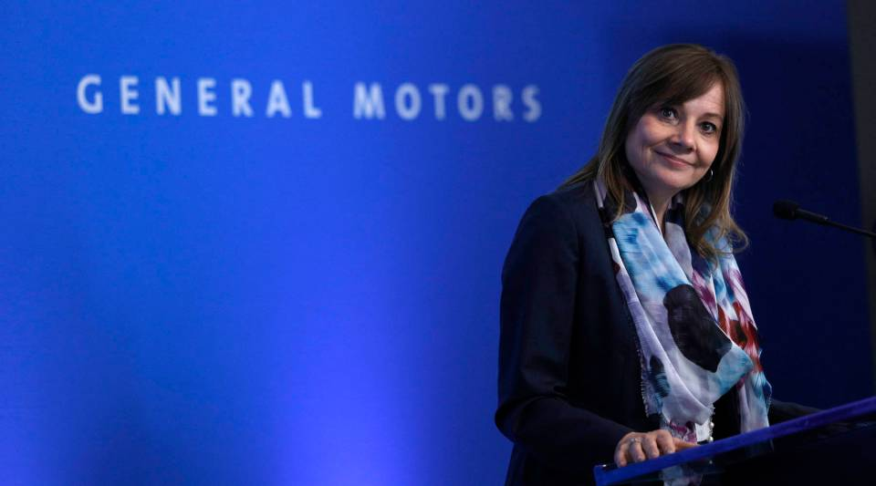 GM CEO Mary Barra addresses the 2018 General Motors Annual Meeting of Shareholders.