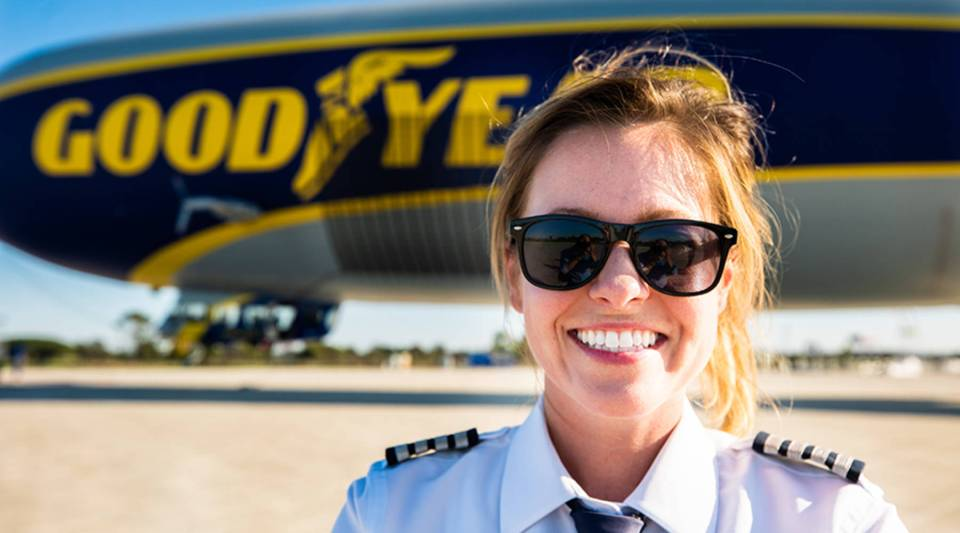 Taylor Deen is a senior pilot with Goodyear Airship Operations.
