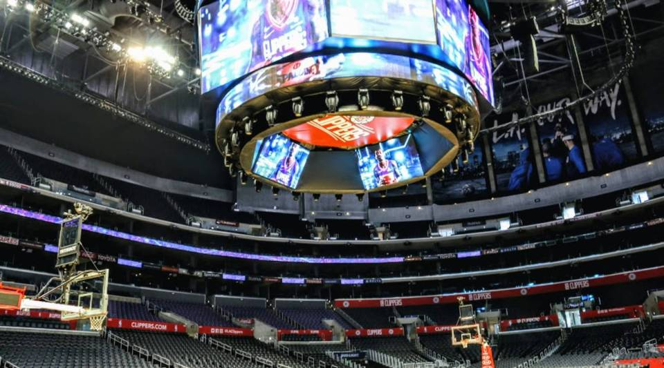 A view inside the Staples Center.