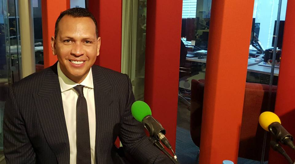 "Alex ""A-Rod"" Rodriguez at the BBC Studios in London."