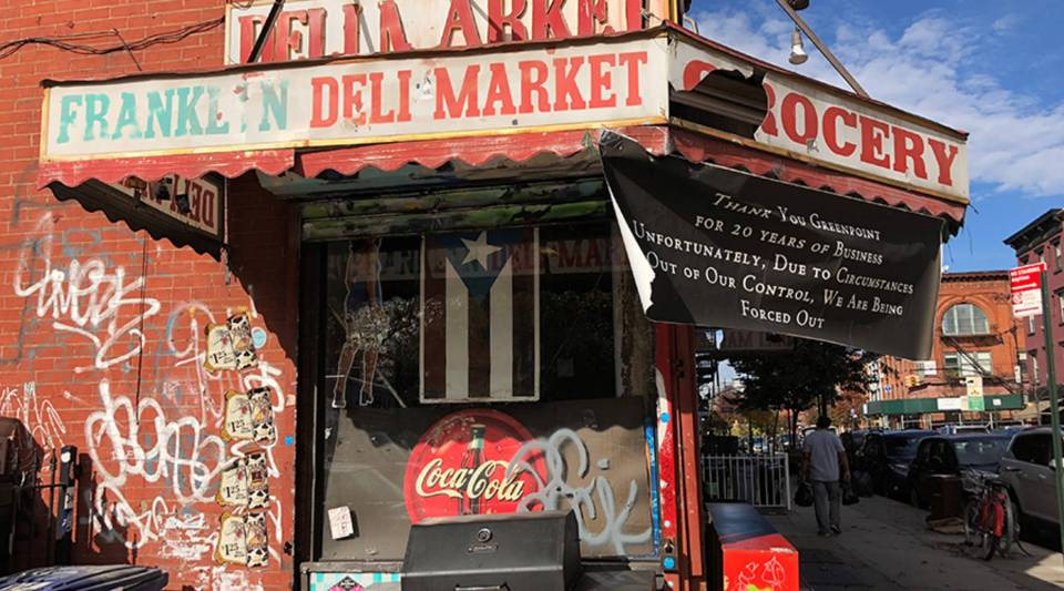 American Deli Market in the Greenpoint neighborhood of Brooklyn recently closed after about 20 years in business.