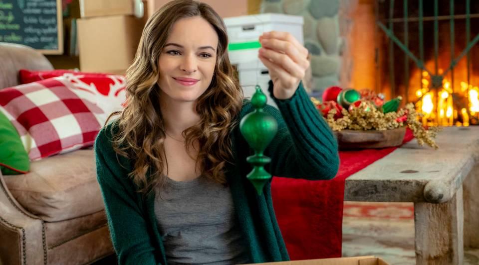 "Danielle Panabaker plays Joy Holbrook in ""Christmas Joy,"" a 2018 original Hallmark movie."