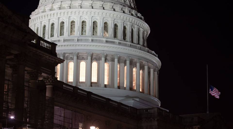 The U.S. Capitol is seen ahead of a possible government shutdown, in Washington, D.C., Dec. 21, 2018. The U.S. House of Representatives adjourned on Dec. 21 without Congress passing a spending deal, as President Donald Trump and lawmakers remain at odds over border wall funding.