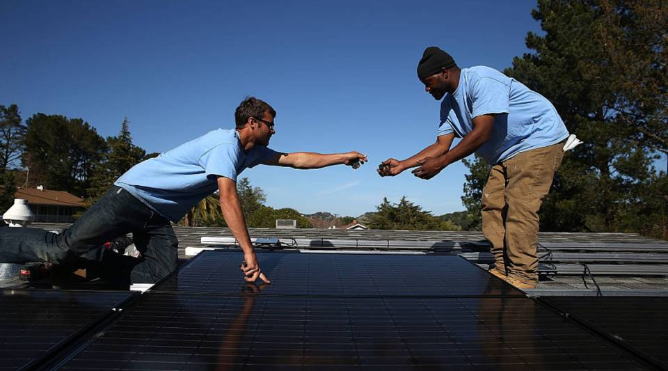 California has become the first state to require solar panels on most new homes.
