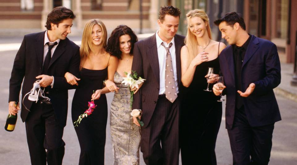 """Cast members of NBC's comedy series """"Friends"""""""