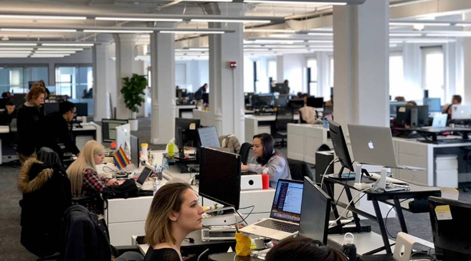 The NowThis newsroom in New York City.
