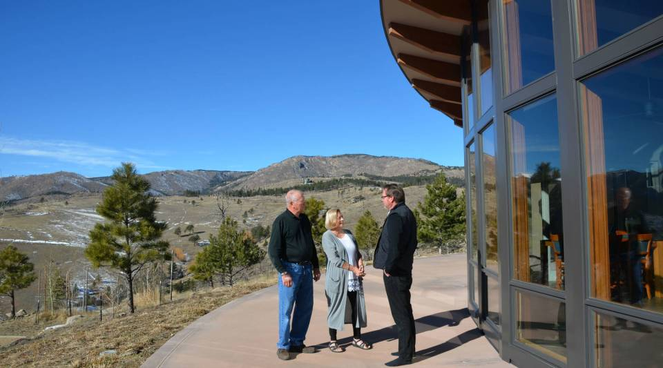 John and Lynn Stasz hired architect Mark Gerwing, right, to design their new house after the 2010 Fourmile Canyon Fire near Boulder, Colorado.
