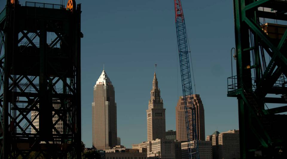 A view of downtown Cleveland, Ohio.