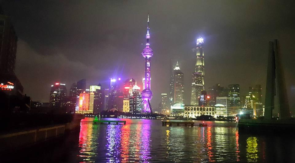Shanghai's skyline from the bund.
