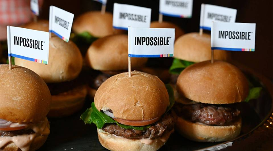 Impossible Foods introduced the Impossible Burger 2.0 at CES 2019 in Las Vegas.