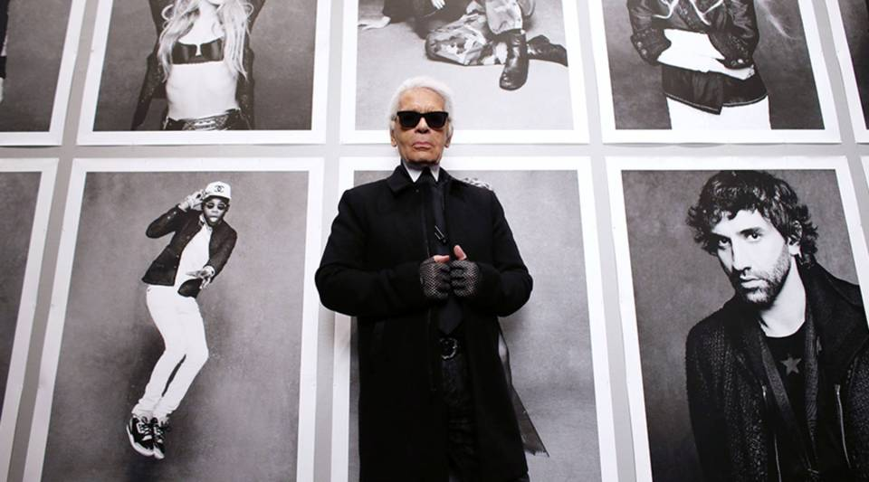 Karl Lagerfeld before the opening of his photo exhibition entitled 'Little Black Jacket' at the Grand Palais in Paris, France on November 8, 2012.