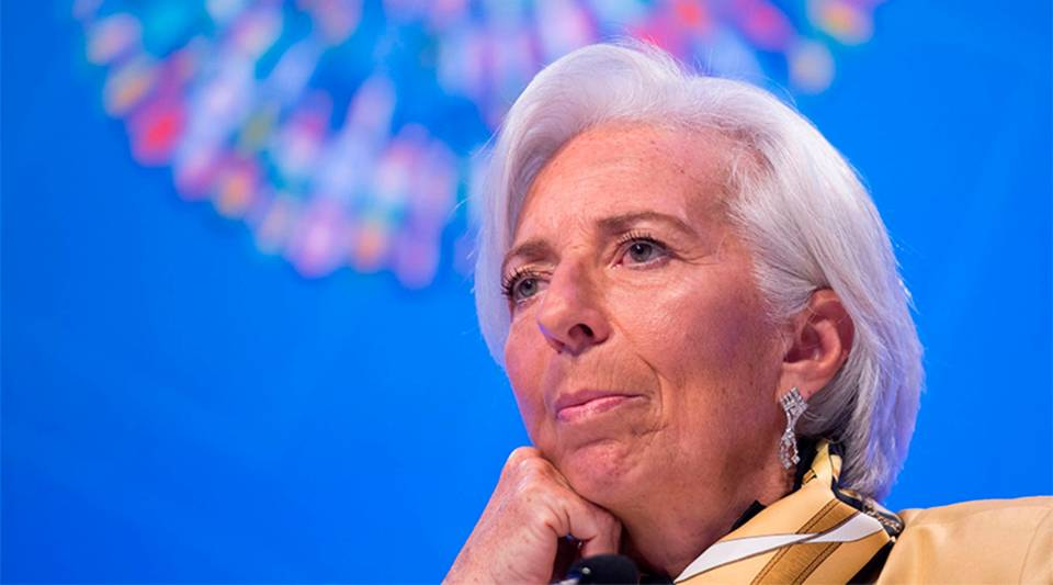 Christine Lagarde, managing director of the International Monetary Fund, during the IMF and the World Bank Group 2018 spring meetings in Washington, D.C., in 2018.