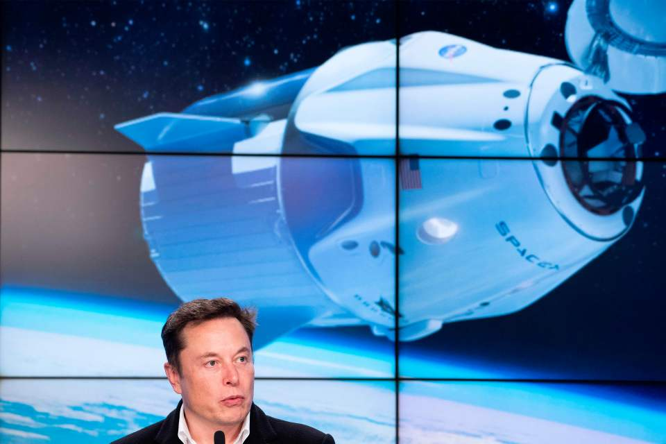 SpaceX chief Elon Musk speaks during a press conference after the launch of SpaceX Crew Dragon Demo mission at the Kennedy Space Center in Florida on March 2, 2019.