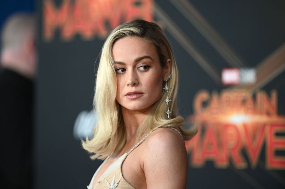 "In this file photo taken on March 4, 2019 US actress Brie Larson attends the world premiere of ""Captain Marvel"" in Hollywood, California."