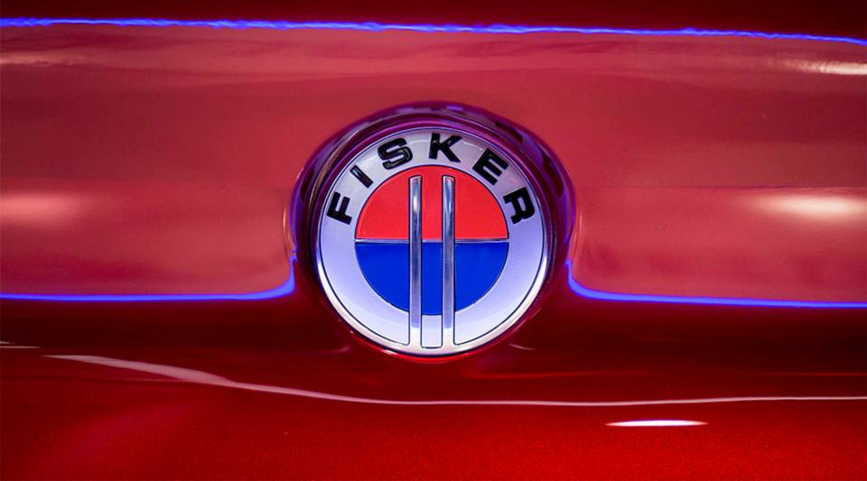 A logo is seen on a Fisker EMotion all-electric vehicle that uses LiDAR technology at CES in Las Vegas, Nevada, January 9, 2018.