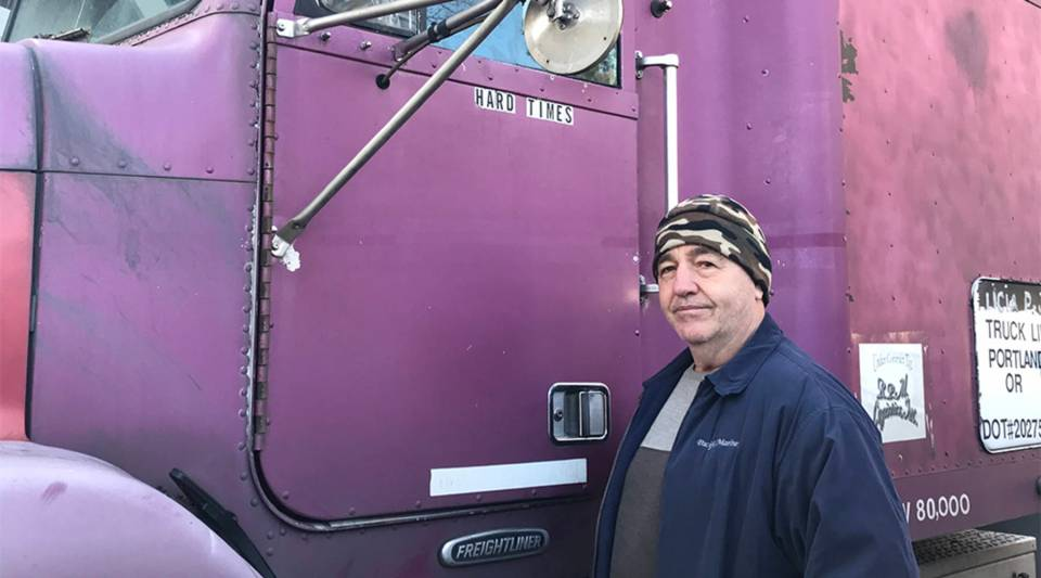 61-year-old Petru Strugari of Portland, Oregon, says driver pay is rising at trucking companies, just as costs rise for parts and maintenance to operate his own truck.