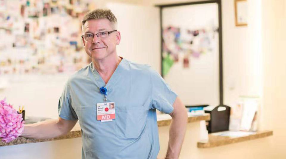 Dr. Russell Rapoza has helped more than a thousand mothers from China deliver babies.