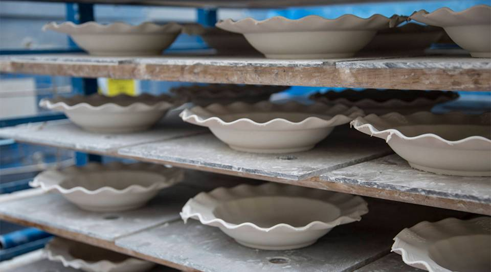 Earthenware from Stoke-on-Trent, the town where the British pottery business was born more than 300 years ago.