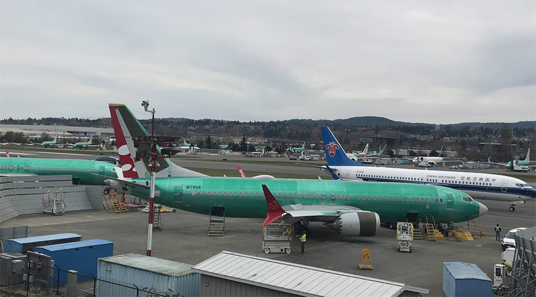 In suburban Seattle, Boeing keeps on cranking out 737 Max