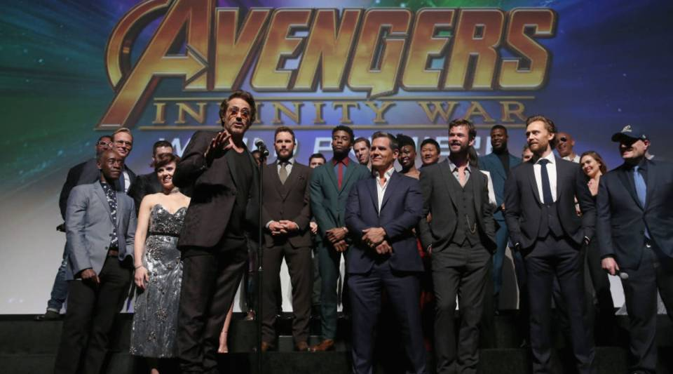 "The cast and crew of ""Avengers: Infinity War"" attend the Los Angeles premiere."
