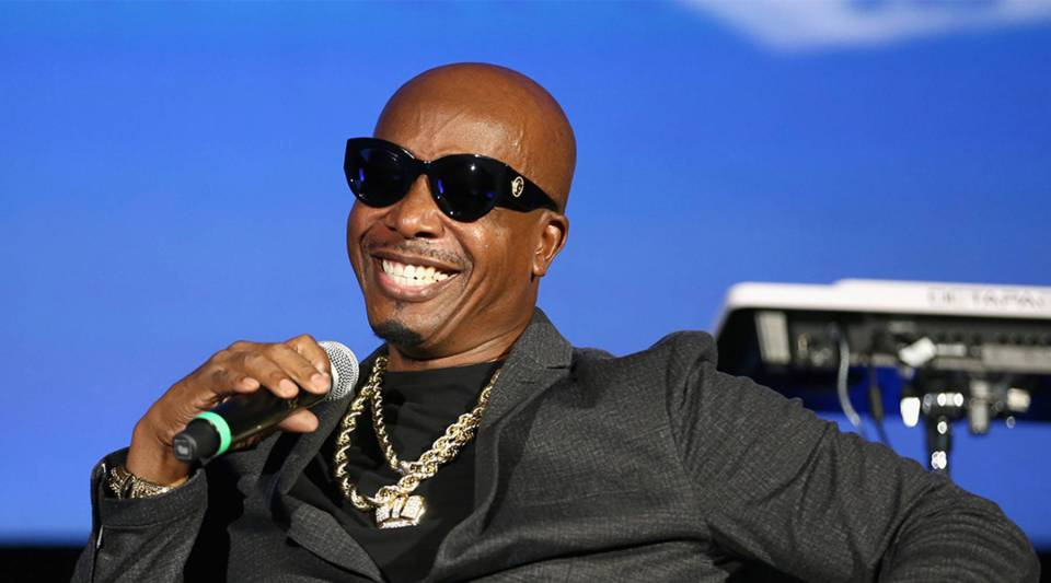 MC Hammer speaks onstage during a Capitol Music Group event in Los Angeles, California in 2018.