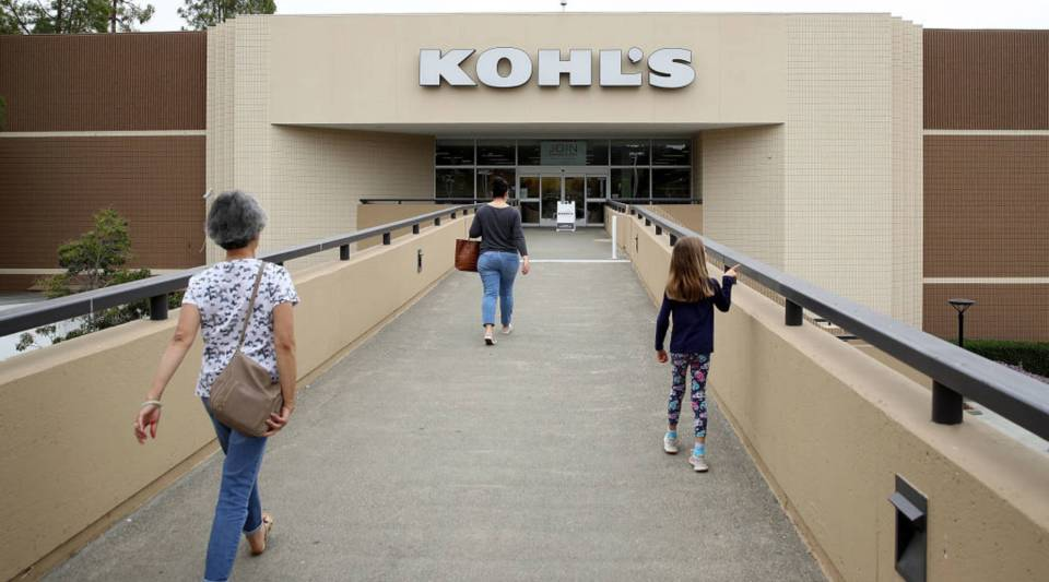 Customers enter a Kohl's store on August 21, 2018 in San Rafael, California.