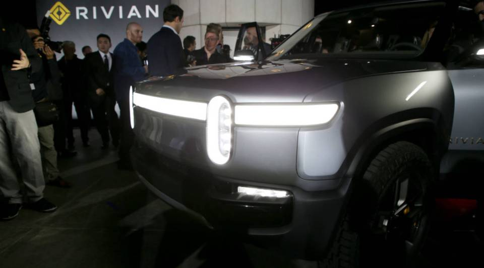 Rivian Unveils First-Ever Electric Adventure Vehicle Before Its Official Reveal At The LA Auto Show at Griffith Observatory on November 26, 2018 in Los Angeles, California.
