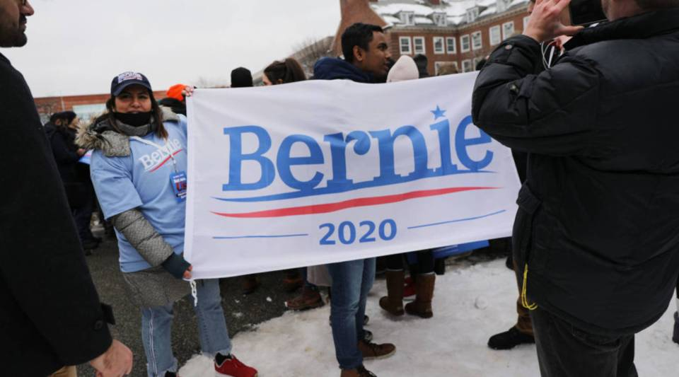 People wait to hear U.S. Sen. Bernie Sanders (I-VT) speak to supporters at Brooklyn College on March 02, 2019 in the Brooklyn borough of New York City. Sanders, a staunch liberal and critic of President Donald Trump, is holding his first campaign rally of the 2020 campaign for the Democratic Party's presidential nomination in his home town of Brooklyn, New York.