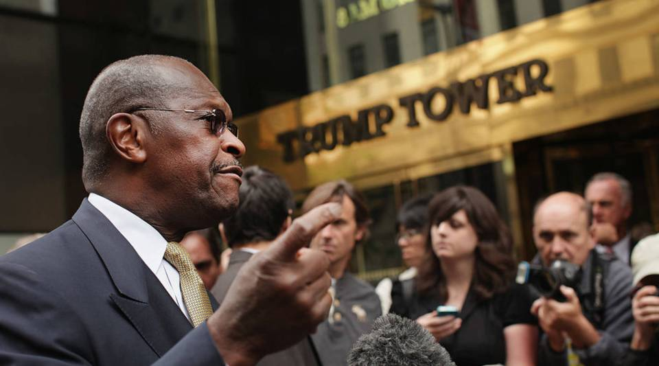 President Trump says he wants to appoint Herman Cain to the board of the Federal Reserve.