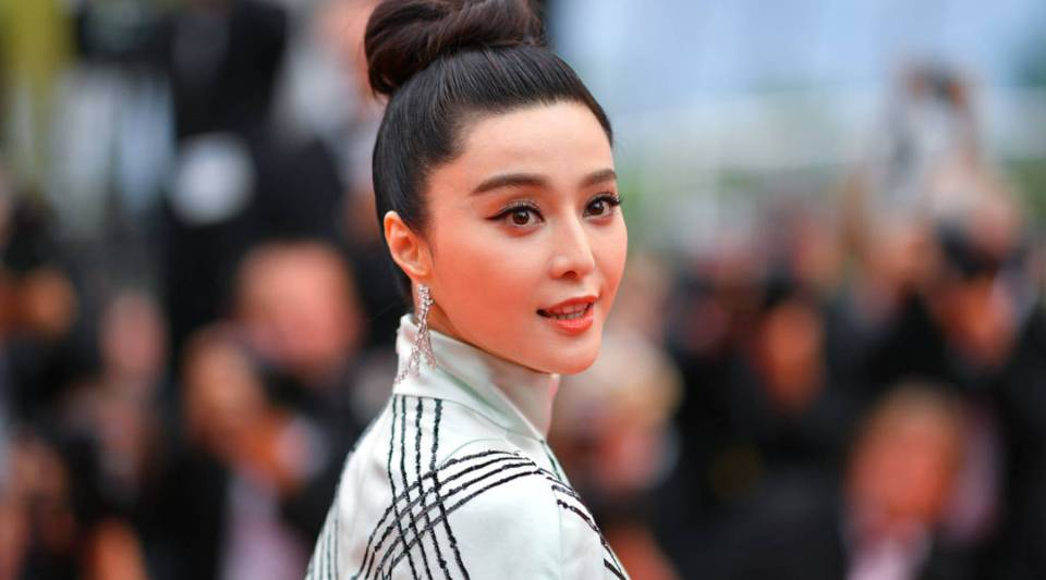 """Chinese actress Fan Bingbing arrives on for the screening of """"L'Amant Double"""" at the Cannes Film Festival in southern France in 2017."""