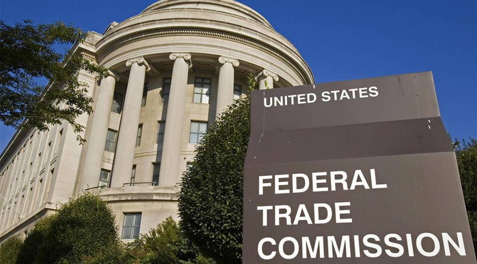 The US Federal Trade Commission (FTC) building in Washington, DC.