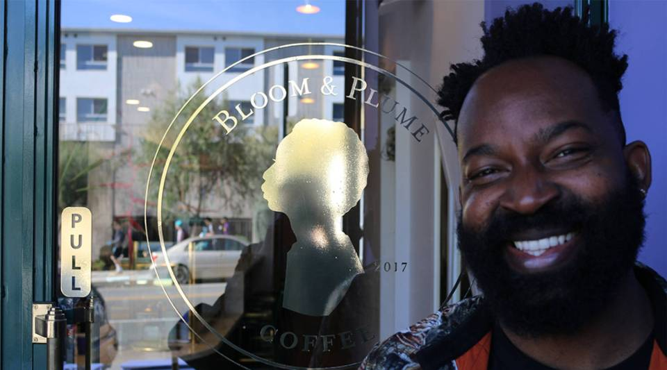 Maurice Harris is the owner of Bloom & Plume Coffee in Echo Park in Los Angeles, California.