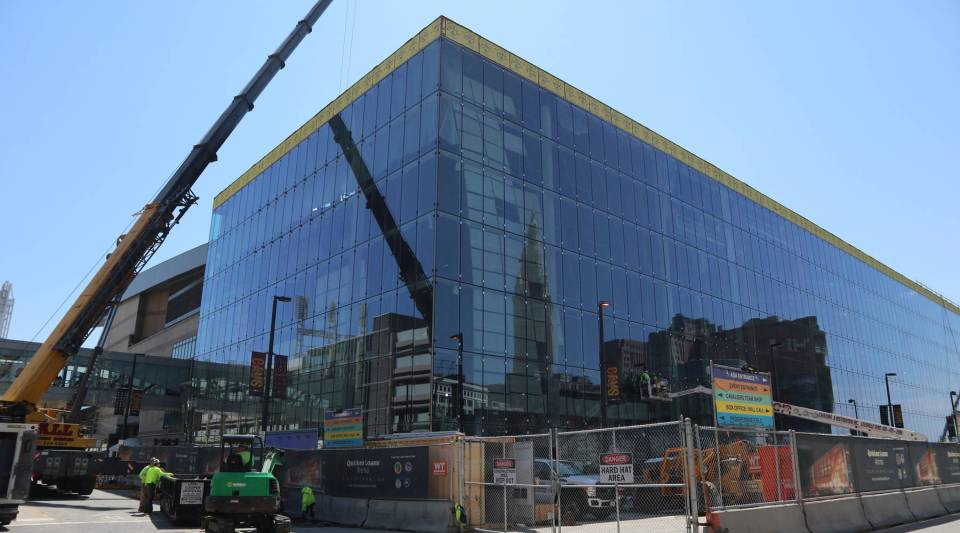 Rocket Mortgage FieldHouse in downtown Cleveland is undergoing a $185 million renovation. The construction firm on the project has voluntarily agreed to comply with a local ordinance that requires contractors on certain publicly funded construction projects allocate at least 20% of the work hours to Cleveland residents.