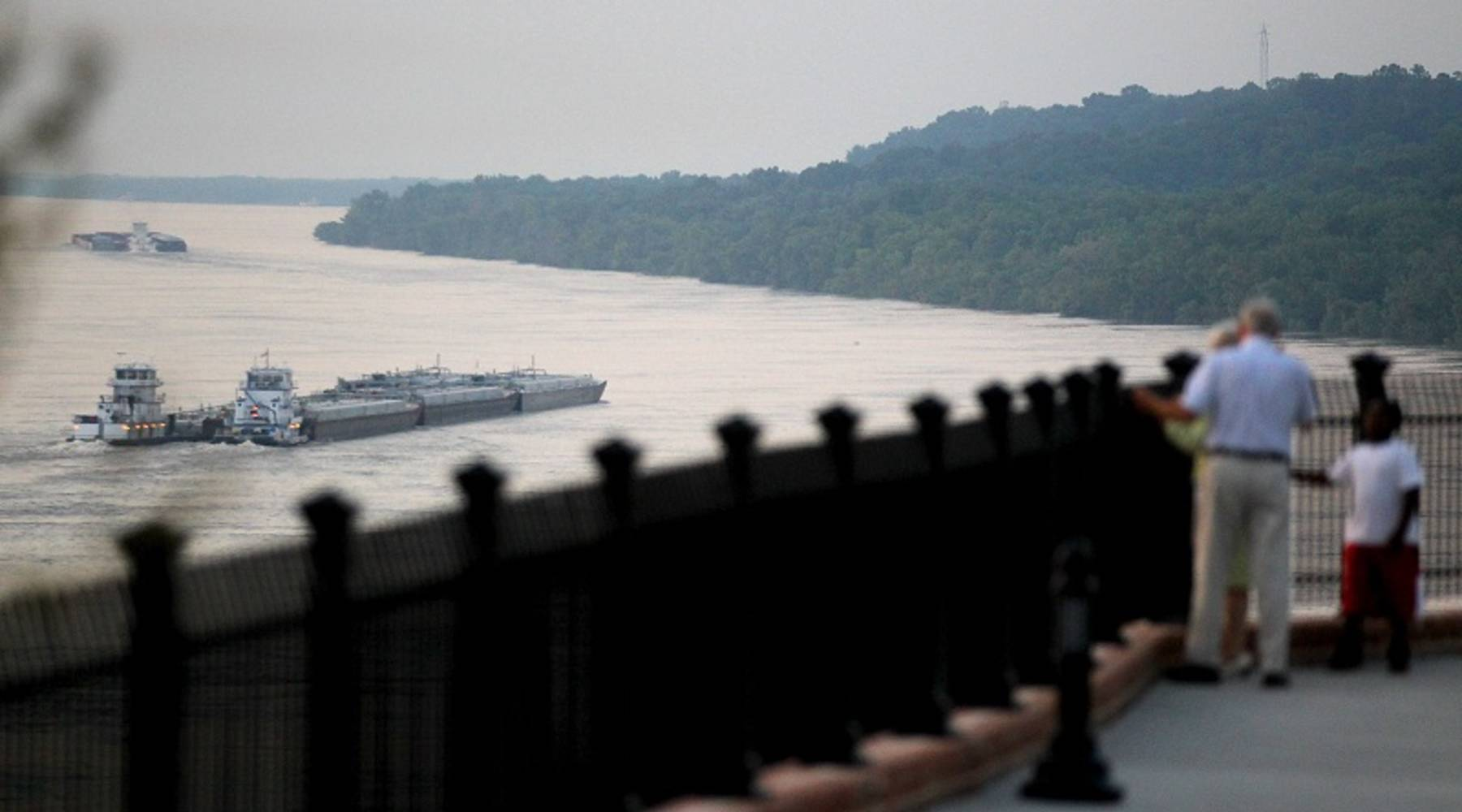 High water on the Mississippi River means less barge cargo