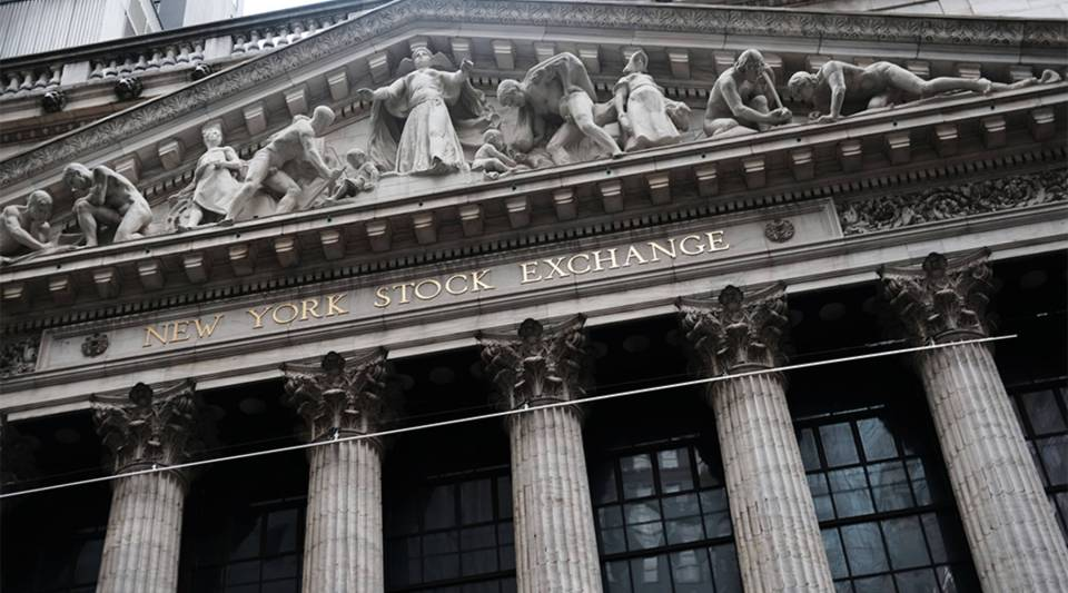 The New York Stock Exchange is pictured on January 03, 2019.