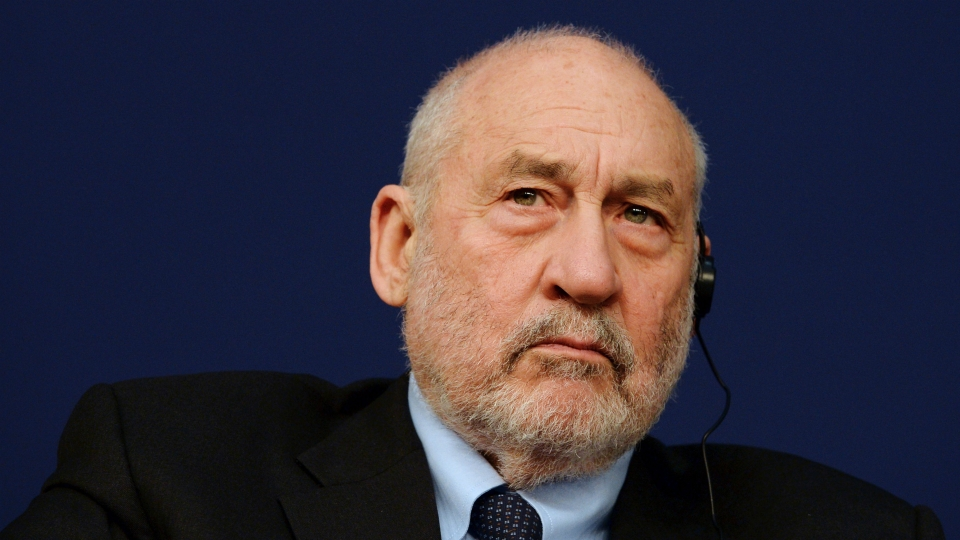 "Nobel prize-winning US economist Joseph Stiglitz listens during the opening session of the 6th edition of the ""Entretiens du Tresor"" seminar at the Economy Ministry in Paris on January 31, 2017."