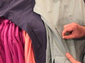 A pocket below the waist on a Columbia Sportswear women's shirt.