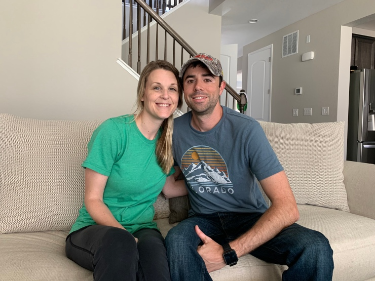 Audie and Aaron Woods, both 37, sold their previous home in Houston to Offerpad.