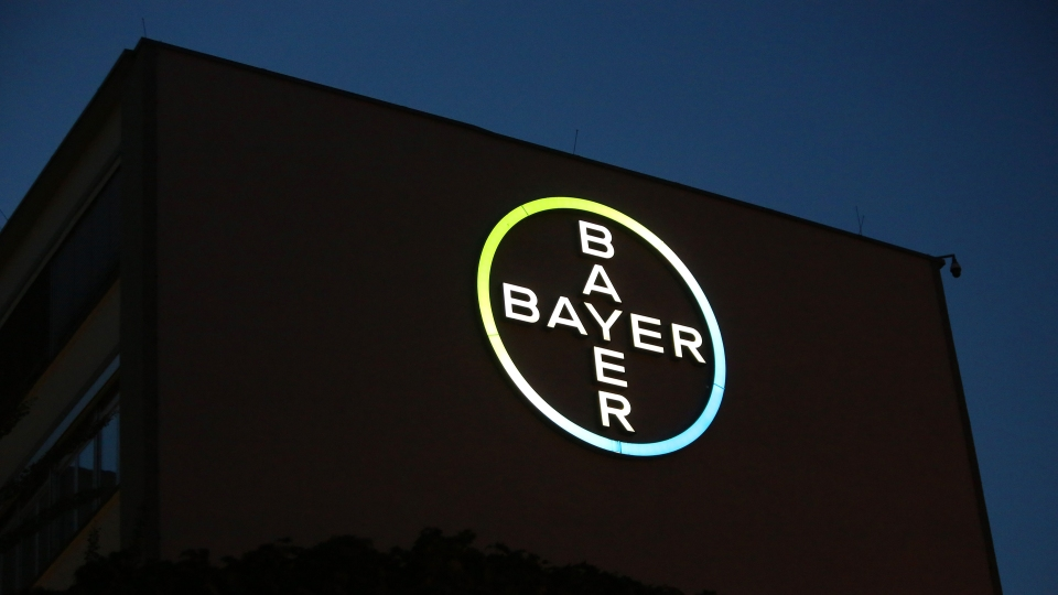 The Bayer Pharma AG building stands on August 29, 2018 in Berlin, Germany.