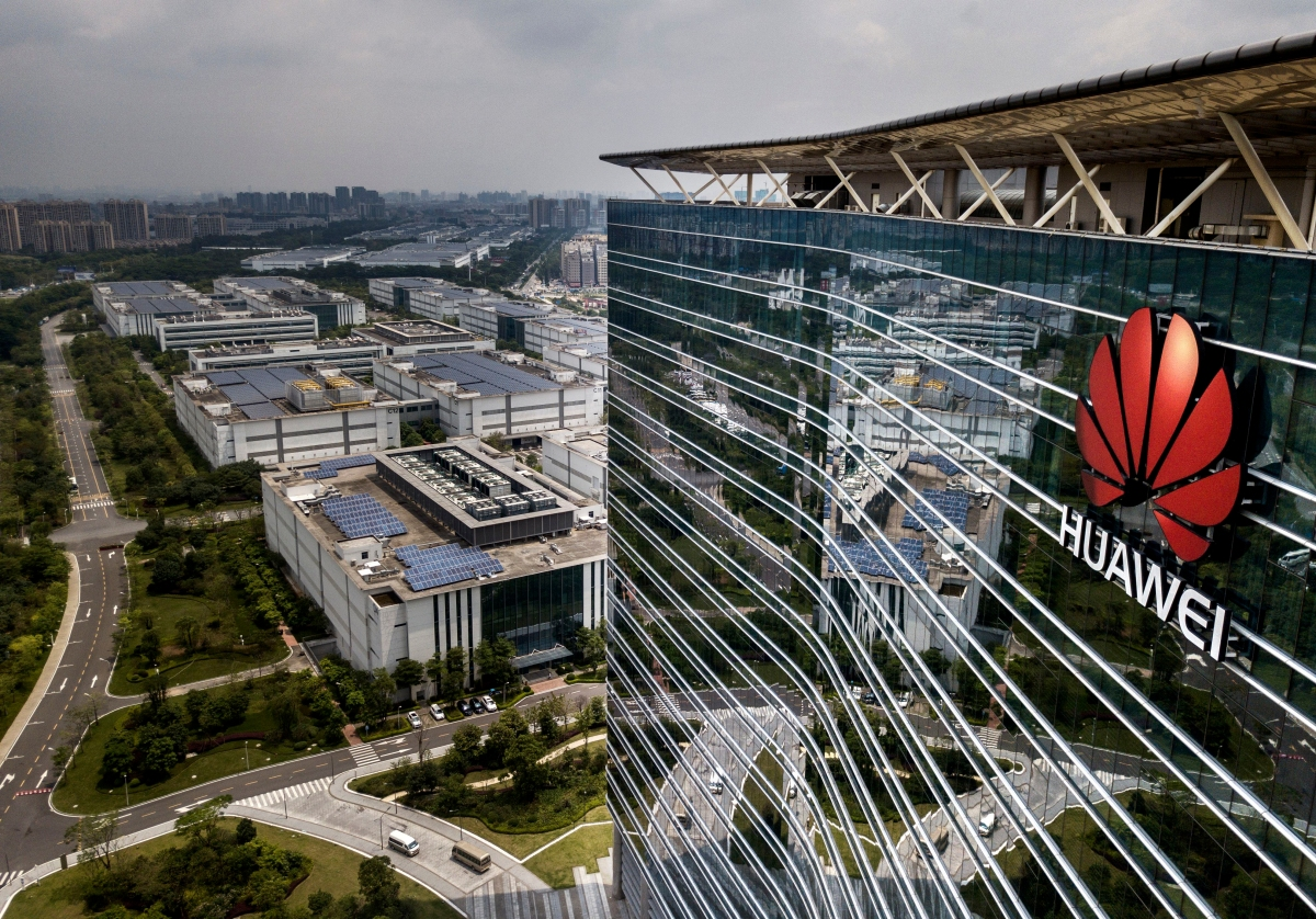 On the ground at Huawei's headquarters: anger, and polite robots - Marketplace