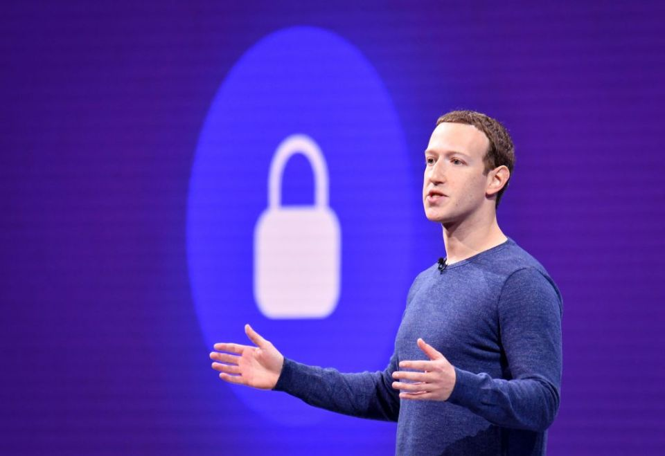 In this file photo taken on May 1, 2018 Facebook CEO Mark Zuckerberg speaks during the annual F8 summit at the San Jose McEnery Convention Center in San Jose, California. - Facebook is leaping into the world of cryptocurrency with its own digital money, designed to let people save, send or spend money as easily as firing off text messages.